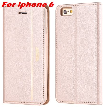 Luxury Fashion High Quality Leather Case For Iphone 6 Flip Case St 2055637345-10-Gold For Iphone 6