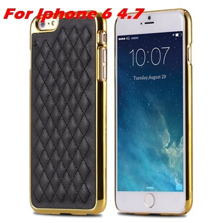 Newest Luxury Retro Gold Pc Plating Linear Ex Case For Iphone 6 4. 32226725265-1-I6 Black Gold