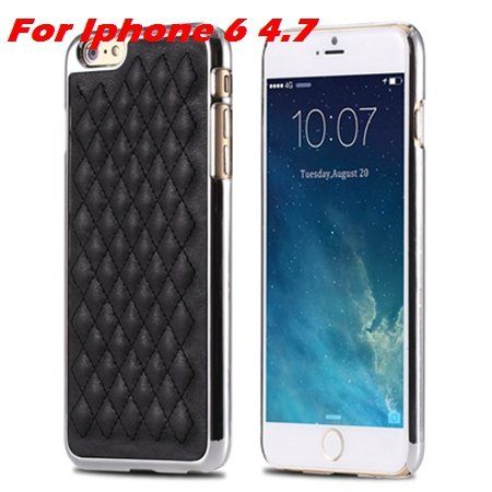 Newest Luxury Retro Gold Pc Plating Linear Ex Case For Iphone 6 4. 32226725265-3-I6 Black and Sliver