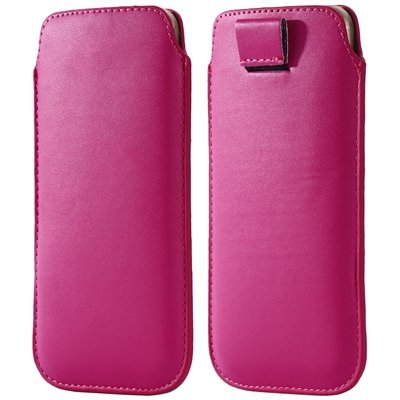 General Leather Case For Iphone 6 5S 4S For Samsung S5 S4 S3 For H 32265670970-8-Hot Pink