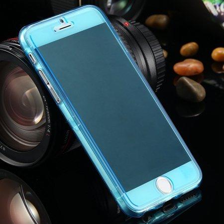 "Ultra Light Transparent Slim Tpu Soft Flip Case For Iphone 6 4.7""""  2032639495-6-Light Blue"