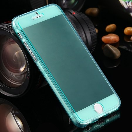 "Ultra Light Transparent Slim Tpu Soft Flip Case For Iphone 6 4.7""""  2032639495-7-Green"