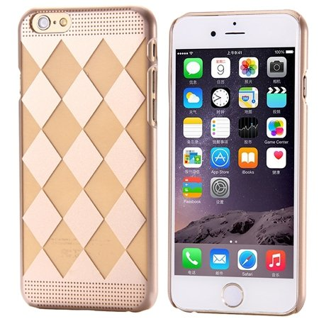 Ultra Thin Clear Crystal Pc Hard Transparent Case For Iphone 6 4.7 32222317027-1-Gold Diamond