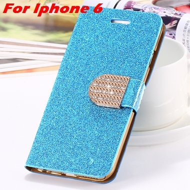 For Iphone 6 Case Gold Luxury Bling Diamond Leather Case For Iphon 32258181305-1-Blue For Iphone 6
