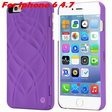 Fashion Lady Necessary 3D Water Flip Pu Leather Case For Iphone 6  32282429199-2-Purple For Iphone 6