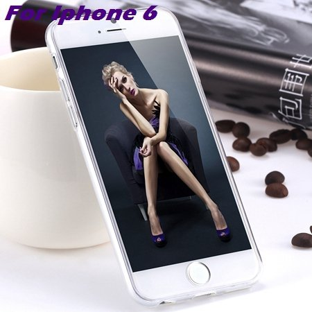 0.3Mm Ultra Thin Silicon Soft High Clear Case For Iphone 6 Crystal 32245374718-3-Clear For Iphone 6