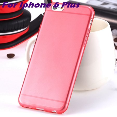 0.3Mm Ultra Thin Silicon Soft High Clear Case For Iphone 6 Crystal 32245374718-11-Red For I6 plus