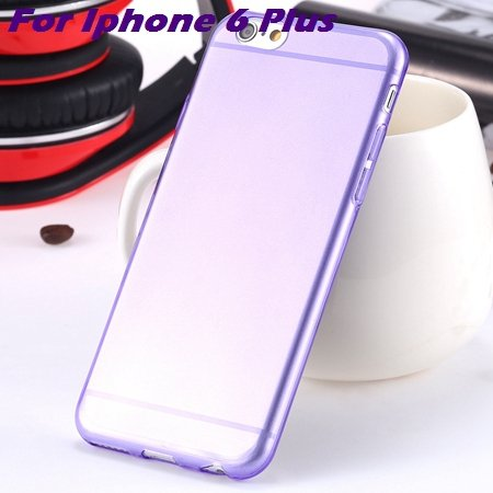 0.3Mm Ultra Thin Silicon Soft High Clear Case For Iphone 6 Crystal 32245374718-12-Purple For I6 plus