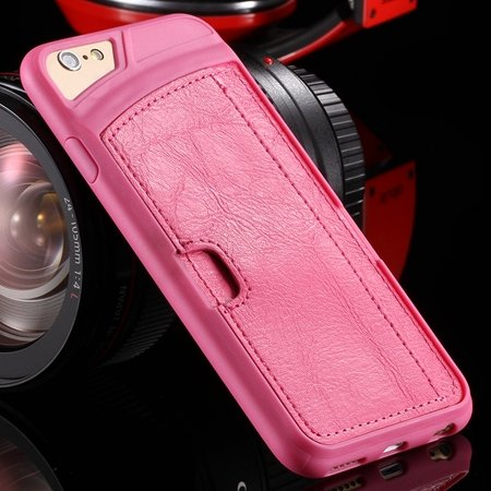 Vintage Luxury Soft Tpu + Pu Leather Case For Iphone 6 4.7Inch Sli 32262191617-5-Hot Pink