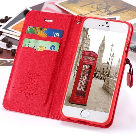 Newest Girl'S Cute Cherry Leather Phone Cases For Iphone 6 Case St 2054232220-3-Red