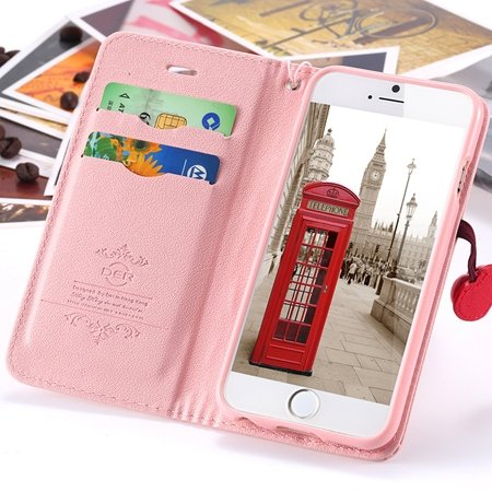 Newest Girl'S Cute Cherry Leather Phone Cases For Iphone 6 Case St 2054232220-5-Pink