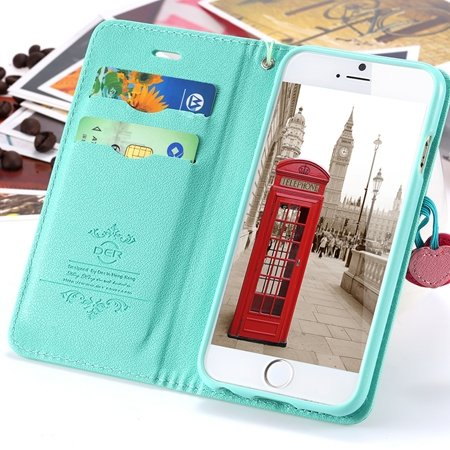 Newest Girl'S Cute Cherry Leather Phone Cases For Iphone 6 Case St 2054232220-6-Mint