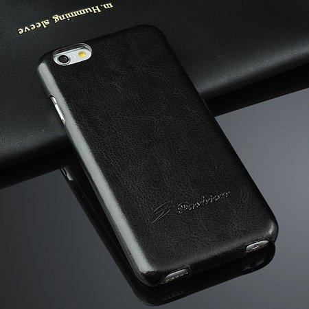 For Iphone 6 Hard Case Retro Luxury Slim Skin Pu Leather Case For  2045529447-1-Black