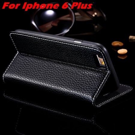 Newest Supreme Luxury Retro Flip Leather Case For Iphone 6 /Iphone 2055155495-6-Black For I6 Plus