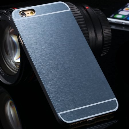 Luxury Brushed Metal Case For Iphone 6 4.7Inch Hard Phone Cases Sl 32226321434-7-Navy Blue