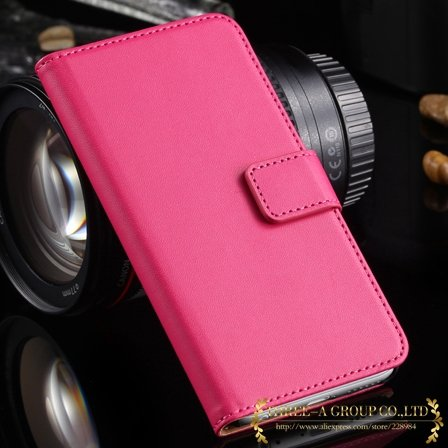 2015 New Retro Luxury Top Quality Genuine Leather Case For Iphone  2012727454-5-hot pink