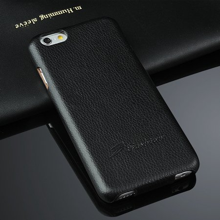 Retro Luxury Genuine Leather Case For Iphone 6 4.7Inch Lychee Patt 2045872907-2-Black