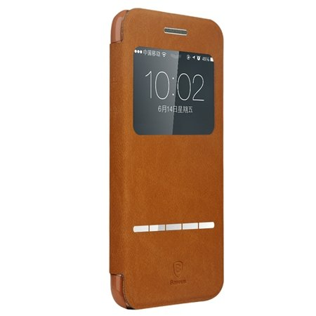 Retro Luxury Front Window View Smart Case For Iphone 6 4.7Inch Fli 32261750675-1-Brown
