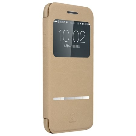 Retro Luxury Front Window View Smart Case For Iphone 6 4.7Inch Fli 32261750675-3-Khaki
