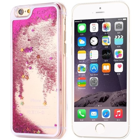 Cool Luxury Top Quality Oil Quicksand Pc Hard Case For Iphone 6 4. 32275053524-1-Hot Pink Star