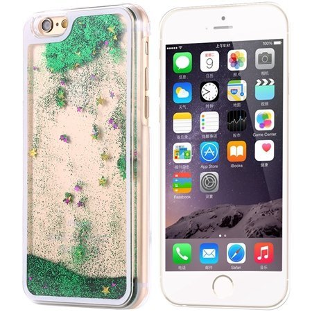 Cool Luxury Top Quality Oil Quicksand Pc Hard Case For Iphone 6 4. 32275053524-3-Green Star