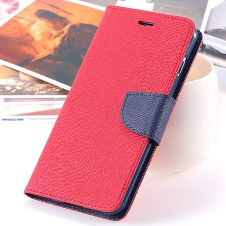 """Retro Fashionable Flip Pu Leather Case For Iphone 6 Case 4.7"""""""" Luxu 2028613606-5-Red"""