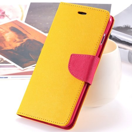 """Retro Fashionable Flip Pu Leather Case For Iphone 6 Case 4.7"""""""" Luxu 2028613606-6-Yellow"""