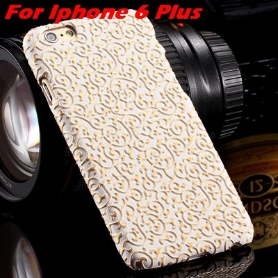 Cute Lovely Classic Palace 3D Flower Pu Leather Case For Iphone 6  32258157872-2-White For I6 Plus