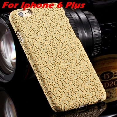 Cute Lovely Classic Palace 3D Flower Pu Leather Case For Iphone 6  32258157872-3-Yellow For I6 Plus