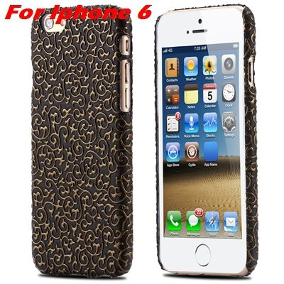 Cute Lovely Classic Palace 3D Flower Pu Leather Case For Iphone 6  32258157872-6-Black For Iphone 6