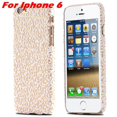 Cute Lovely Classic Palace 3D Flower Pu Leather Case For Iphone 6  32258157872-7-White For Iphone 6