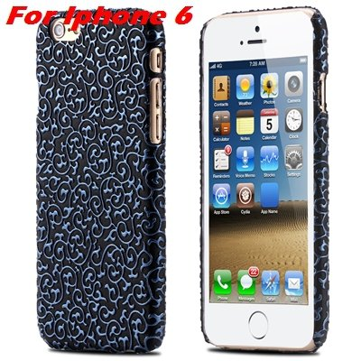 Cute Lovely Classic Palace 3D Flower Pu Leather Case For Iphone 6  32258157872-9-Blue For Iphone 6