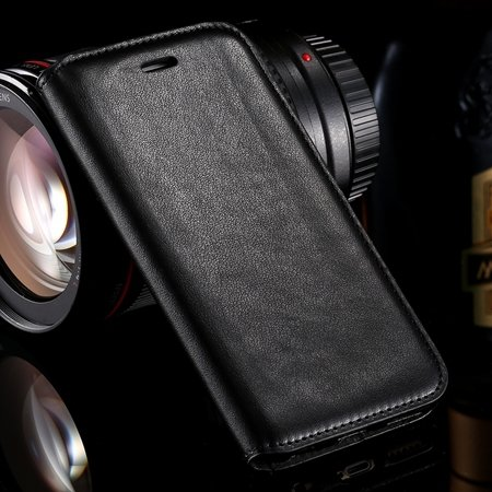 For Iphone 6 Leather Case Retro Luxury Hiden Magent Flip Pu Leathe 32266024632-1-Black