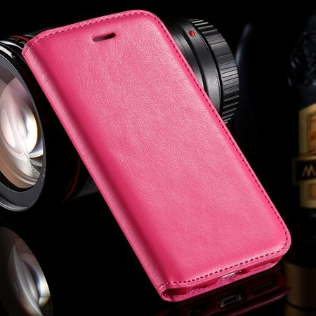 For Iphone 6 Leather Case Retro Luxury Hiden Magent Flip Pu Leathe 32266024632-4-Hot Pink