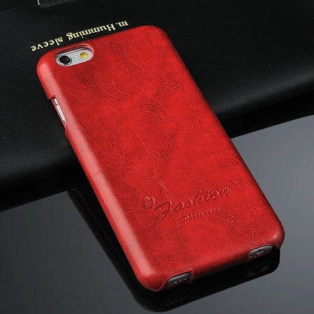 Retro Luxury Oil Wax Soft Pu Leather Case For Iphone 6 4.7Inch Fli 2045594722-5-Red