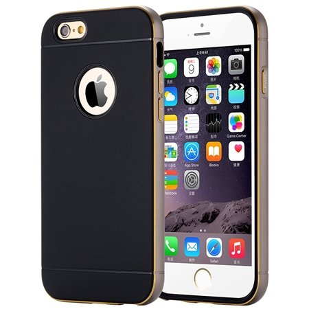 Luxury Simple Aluminum Ex Linear Frame Case For Iphone 6 4.7Inch H 32264423173-5-Gray