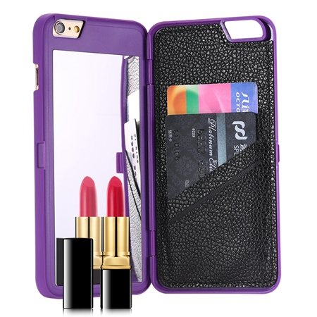 For Iphone 6 Mirror Case Fashion 3D Water Pattern Flip Pu Leather  32279360556-2-Purple