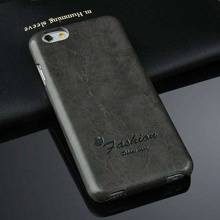 New Year Luxury Wax Feeling Flip Leather Case For Iphone 6 4.7Inch 2045590088-3-Black