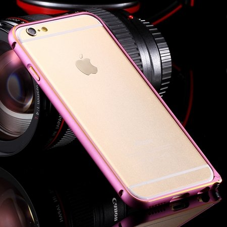 Ultra Thin Aluminum Luxury Metal Frame Bumper For Iphone 6 4.7Inch 32251693221-2-Gold and Pink