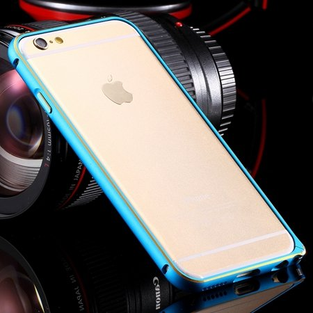 Ultra Thin Aluminum Luxury Metal Frame Bumper For Iphone 6 4.7Inch 32251693221-3-Gold and Blue
