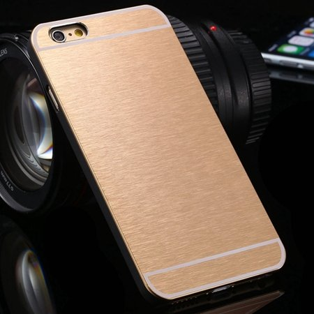 """Newest Luxury Aluminum Metal Brush Case For Iphone 6 4.7"""""""" Cell Pho 2050897523-5-Gold"""