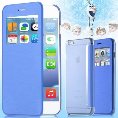 For Iphone 6 Leather Case Front Window View Pu Leather Case For Ip 32256582352-7-Sky Blue