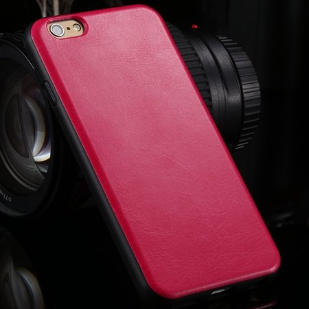 "New Arrival Unique Back Leather Case For Iphone 6 4.7"""" Protective  2046746785-5-Hot Pink"