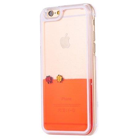 For Iphone 6 Transparent Case Luxury Oil Fish Quicksand Case For I 32278229485-1-Orange Fish