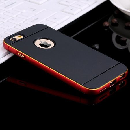 2015 Cool Navy Blue Metal Aluminium + Pc Hybrid Case For Iphone 6  32264500770-2-Red