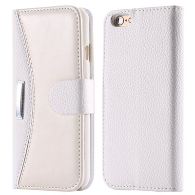 Luxury Business Style Slim Flip Leather Case For Iphone 6 Hybrid S 32254198817-2-White