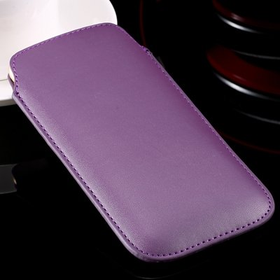 For Iphone 6 Leather Bag Pouch Luxury Full Protective Leather Case 32265670052-6-Purple