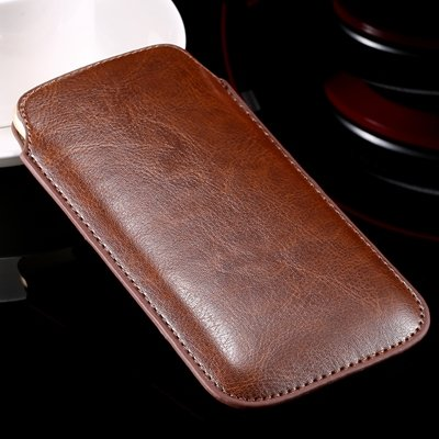 For Iphone 6 Leather Bag Pouch Luxury Full Protective Leather Case 32265670052-8-Brown