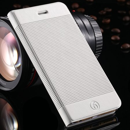 Gold Luxury Elegent Grid Pattern Flip Leather Case For Iphone 6 4. 32213365686-4-White