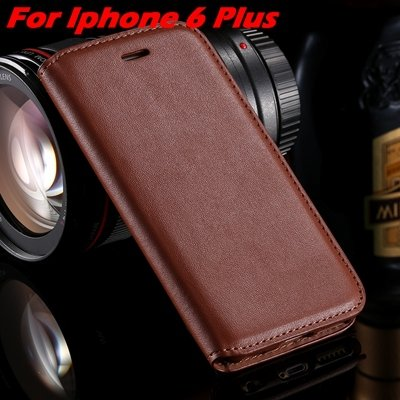 For Iphone 6 Leather Case Retro Luxury Pu Leather Case For Iphone  32265895680-10-Brown For I6 Plus